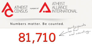 Atheist Census - Numbers matter. Be counted. - 19-12-2012