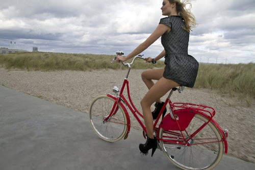 Copenhagen - girl -on - bike